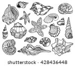modern set of hand drawn... | Shutterstock .eps vector #428436448
