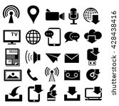media and communication icons. | Shutterstock .eps vector #428438416