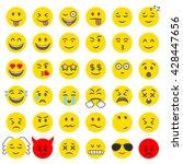 flat design style vector smile... | Shutterstock .eps vector #428447656