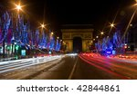 night view of the champs... | Shutterstock . vector #42844861