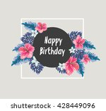 happy birthday card with... | Shutterstock .eps vector #428449096