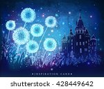 amazing dandelions with magical ... | Shutterstock .eps vector #428449642