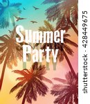 summer beach illustration.... | Shutterstock .eps vector #428449675