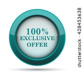 100  exclusive offer icon.... | Shutterstock . vector #428453638