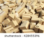 warehouse or delivery concept... | Shutterstock . vector #428455396