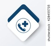 emergency call icon   Shutterstock .eps vector #428455735