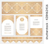 vintage gold borders and frames ... | Shutterstock .eps vector #428462416
