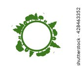 eco planet. planet icon... | Shutterstock .eps vector #428463352