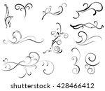 flourishes set | Shutterstock .eps vector #428466412