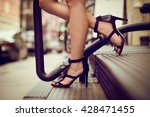 woman legs in high heel shoes... | Shutterstock . vector #428471455