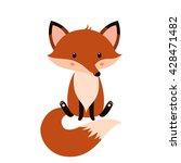 cute fox cartoon   Shutterstock .eps vector #428471482