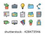 business and office icons set... | Shutterstock .eps vector #428473546