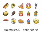 food and drinks icons set eps10 | Shutterstock .eps vector #428473672