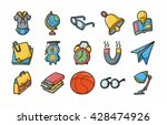 school and education icons set... | Shutterstock .eps vector #428474926