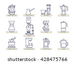 coffee brewing methods icons...   Shutterstock .eps vector #428475766