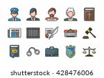 law and justice icons set eps10 | Shutterstock .eps vector #428476006