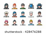 people occupations icons set... | Shutterstock .eps vector #428476288