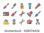 beauty and make up icons set... | Shutterstock .eps vector #428476426