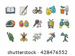 leisure and hobby icons set... | Shutterstock .eps vector #428476552