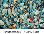 Stock photo natural abstract vintage colorful pebbles background 428477185