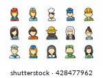 people occupations icons set... | Shutterstock .eps vector #428477962