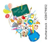 back to school background with... | Shutterstock .eps vector #428479852