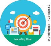 marketing goal vector | Shutterstock .eps vector #428480662