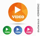 play video sign icon. player...   Shutterstock .eps vector #428483062
