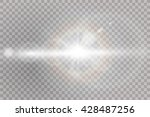 vector transparent sunlight... | Shutterstock .eps vector #428487256