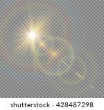 vector transparent sunlight... | Shutterstock .eps vector #428487298