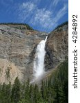 Takakkaw Falls, Yoho National Park, the third highest in Canada - stock photo