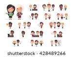 business people vector set | Shutterstock .eps vector #428489266