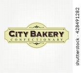 vintage bakery label | Shutterstock .eps vector #428491282