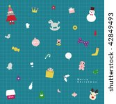 vector christmas tree icons | Shutterstock .eps vector #42849493