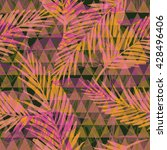 seamless exotic pattern with... | Shutterstock .eps vector #428496406