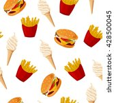 fast food. seamless vector... | Shutterstock .eps vector #428500045