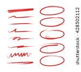hand lettering underlines lines ... | Shutterstock .eps vector #428502112
