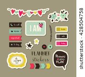 planner stickers. signs ... | Shutterstock .eps vector #428504758