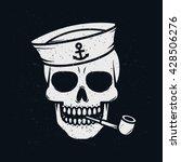 sailor skull. | Shutterstock .eps vector #428506276