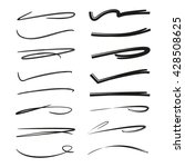 collection of hand drawn lines  ... | Shutterstock .eps vector #428508625