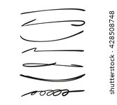 collection of hand drawn lines  ...   Shutterstock .eps vector #428508748