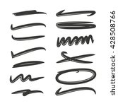 collection of hand drawn lines  ... | Shutterstock .eps vector #428508766