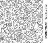 cartoon hand drawn latin... | Shutterstock .eps vector #428512612