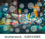 car share concept. sharing... | Shutterstock . vector #428514085