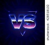 blue neon versus logo. vs...   Shutterstock .eps vector #428518132