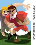 an image of a rugby player...   Shutterstock . vector #42852160