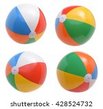 Beach Balls Collection Isolated White - Fine Art prints