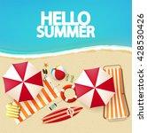 top view of beach    Shutterstock .eps vector #428530426