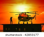 the cargo helicopter in air... | Shutterstock . vector #42853177