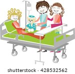 children at hospital a child on ... | Shutterstock .eps vector #428532562